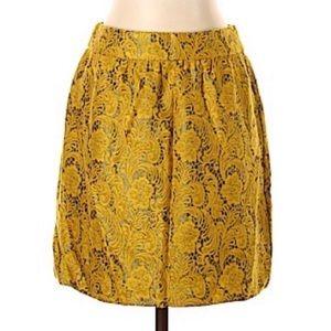 EUC mustard mini skirt